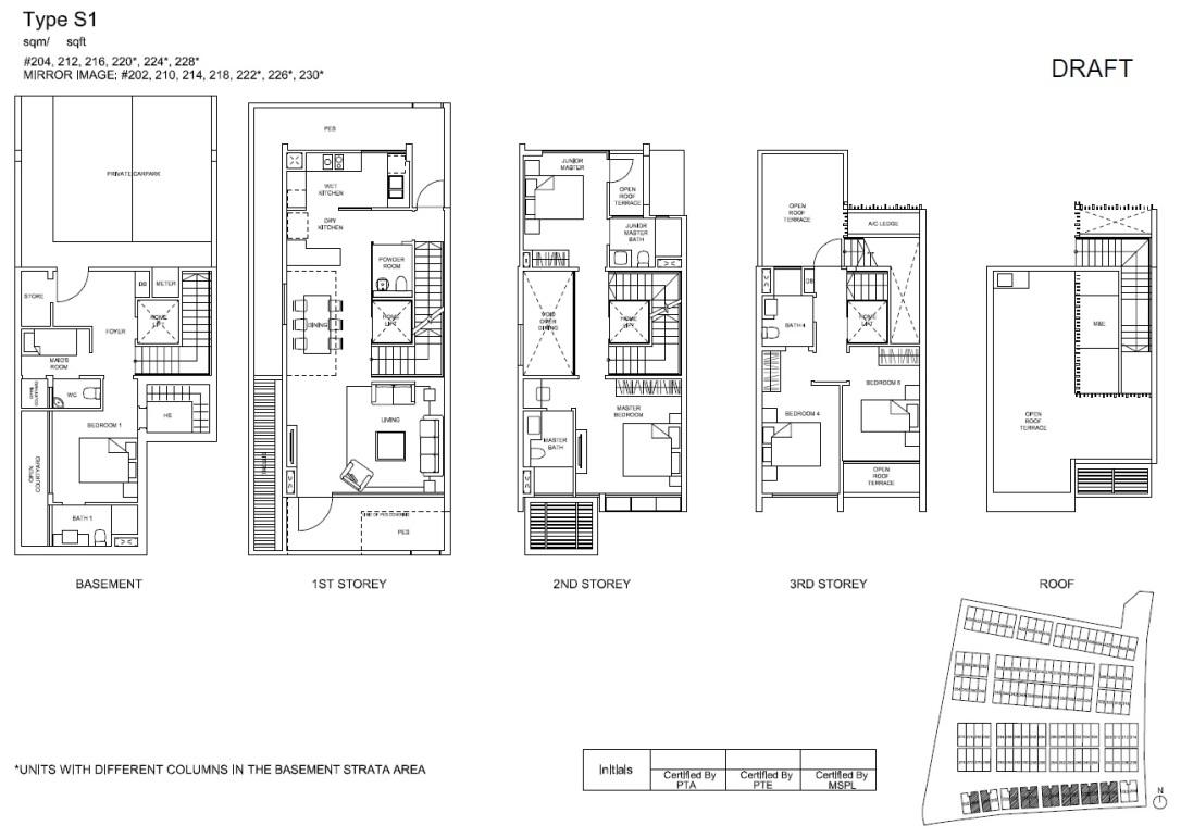 S1 Semi-Detached Floor Plan