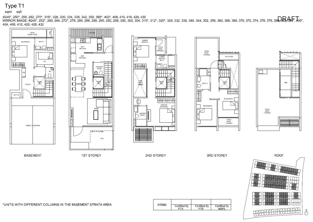 T1 Inter-Terrace Floor Plan