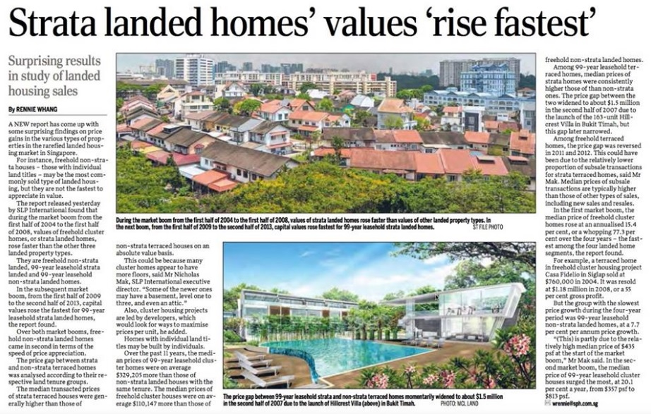 17apr15 - SPH news Strata Landed Homes Values Rise Fastest