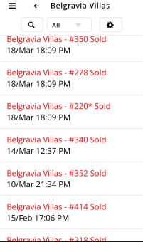 Belgravia Villas Phase 1 BV1 100% Sold Out Transaction dates